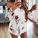 Sunward Off-Shoulder Romper