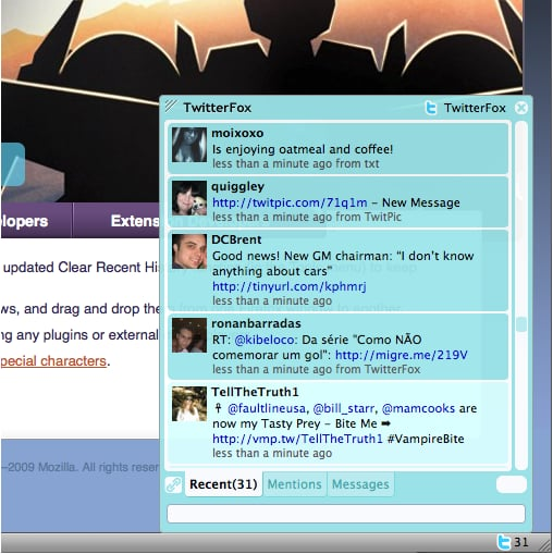 Get Twitter Updates On Your Firefox Browser With The TwitterFox Firefox Add-On