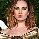 Lily James's Gilded Winged Shadow