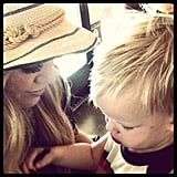 Hilary Duff enjoyed some time with little Luca. Source: Instagram user hilaryduff