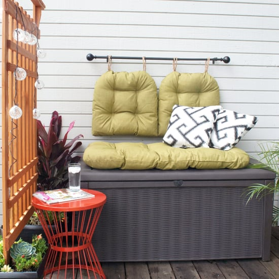 DIY Cozy Outdoor Storage Bench
