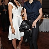 Camilla Belle got together with Leelee Sobieski for the 2012 Tribeca Film Festival Jury lunch.