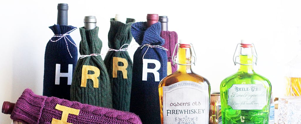 This Weasley Sweater Wine Cozy DIY Is the PERFECT Gift For Harry Potter Lovers