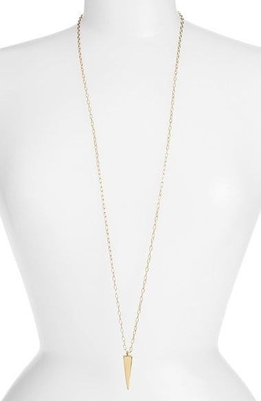 Melinda Maria Lea Pyramid Pendant Long Necklace ($98)