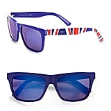 These Union Jack shades will up the cool factor on your game-watching gear.  Jimmy Choo Union Jack Wayfarer-Inspired Plastic Sunglasses ($275)