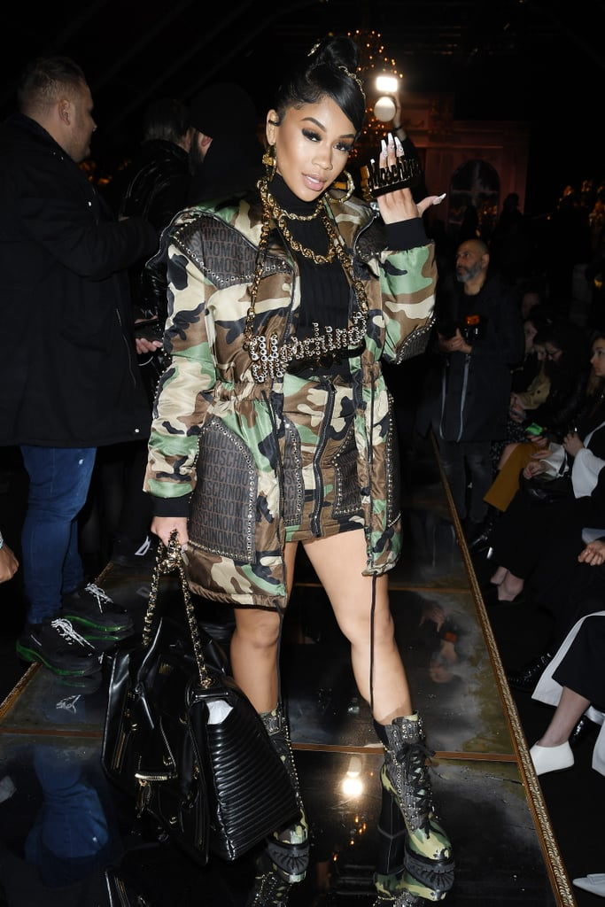 Saweetie at the Moschino Fall 2020 Show