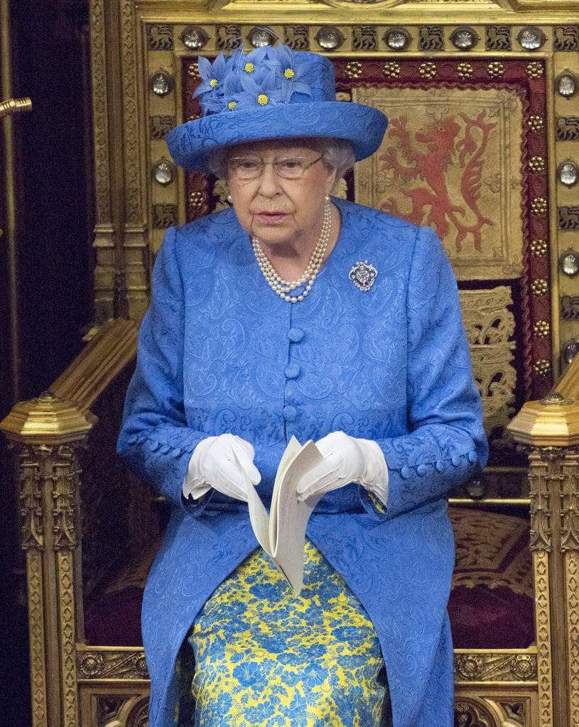 Queen Elizabeth Ii 39 S Eu Flag Hat Popsugar Fashion Photo 2