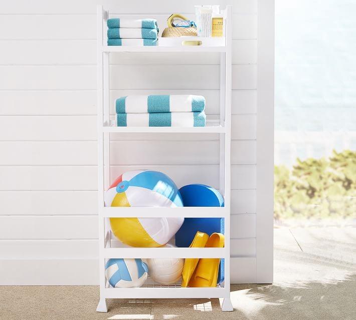 Malibu Pool Storage Tower Shelf