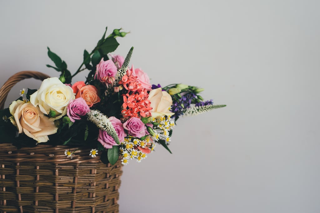 Go to a flower shop and pick out a bouquet for yourself.