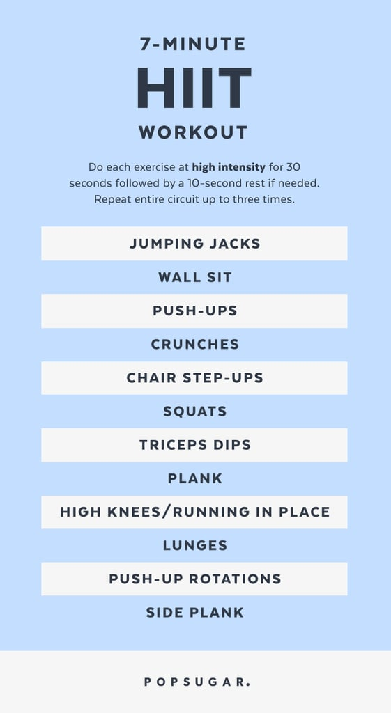 Print It 7 Minute Hiit Workout Popsugar Fitness Photo 14