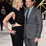 Elizabeth Banks and Max Handelman at the Charlie's Angels Premiere in London