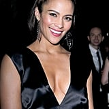 Paula Patton in a sexy black dress.