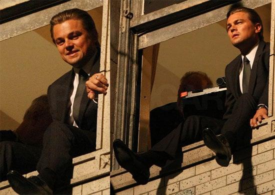 Photos of Leonardo DiCaprio on the Set of Inception in LA