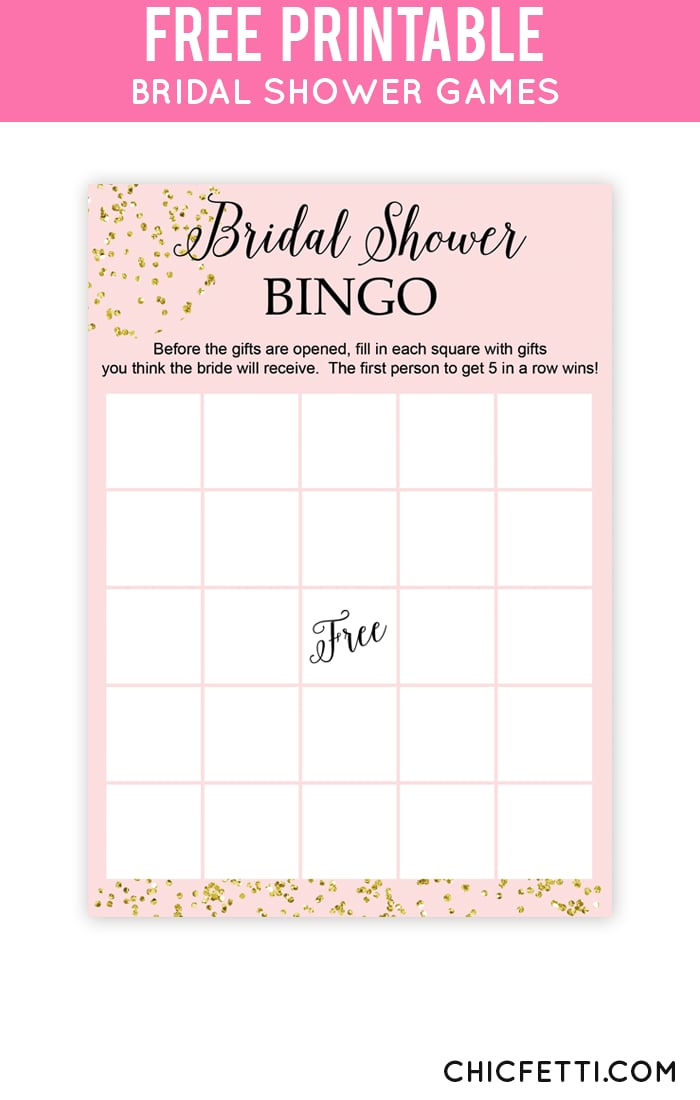 Bridal shower bingo free bridal shower printables for Templates for bridal shower games