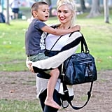 Gwen Stefani and Kingston Rossdale at the park.