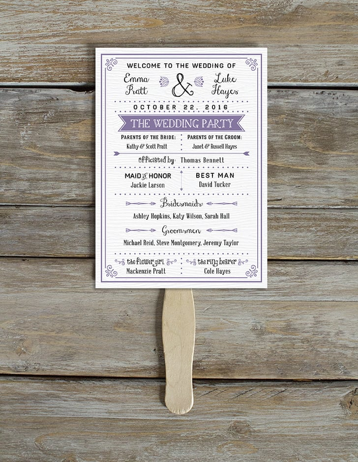 Free Printable Wedding Program