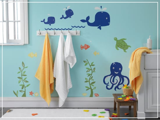 kids bathroom color ideas the sea decals bathroom decor ideas 18969