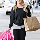 Reese Witherspoon sported a baseball cap and sweatshirt in LA.
