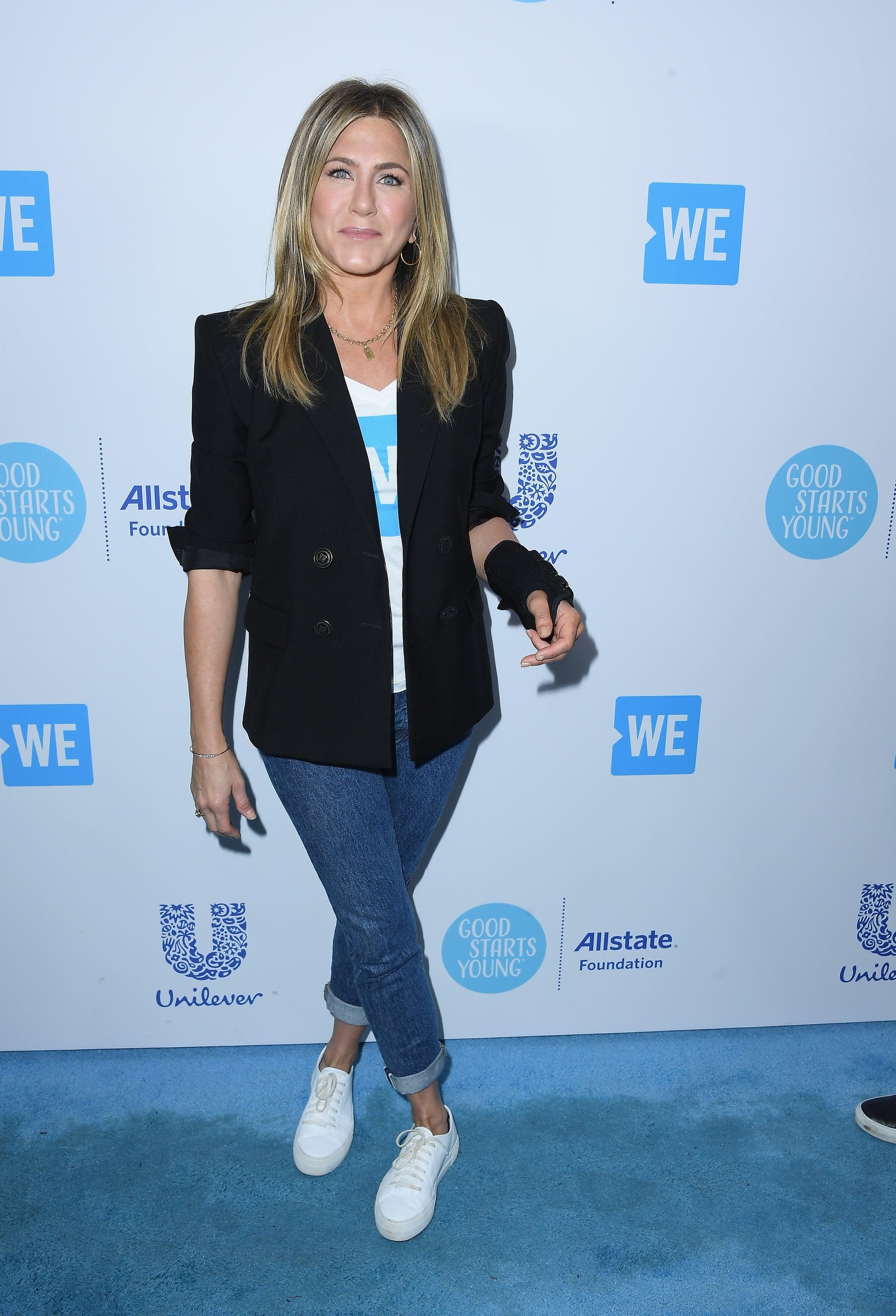 Jennifer Aniston White Sneakers We Day