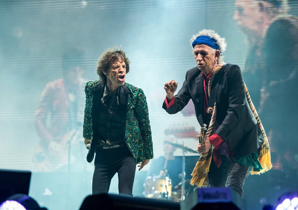The Rolling Stones hit the stage.