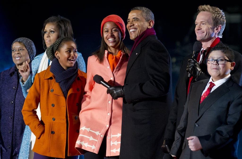 She's Got a Burnt Orange Peacoat to Coordinate With Malia