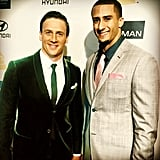 Ryan Lochte met up with Colin Kaepernick at Clive Owen's pre-Grammy party. Source: Instagram user RyanLochte