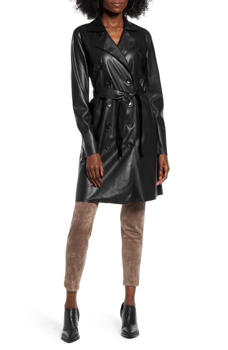 Blanknyc Faux Leather Trench Coat Best Faux Leather