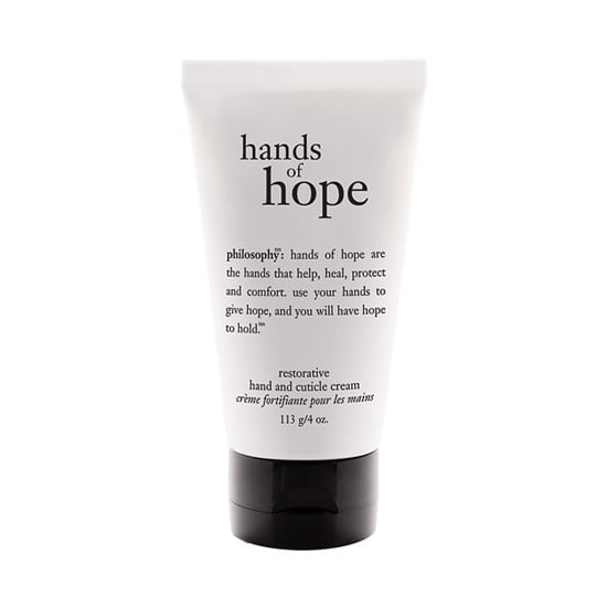 Shea butter is what gives the Philosophy Hands of Hope ($10) its hydrating power. Slather some on and wear cotton gloves while you sleep for an overnight treatment.