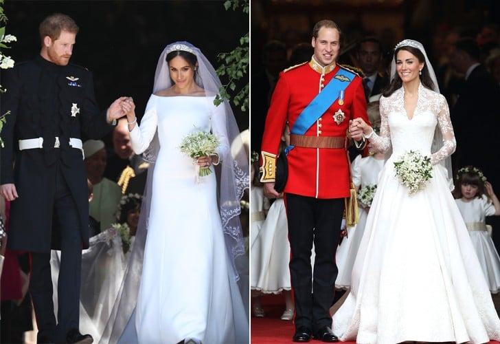Meghan Markle and Kate Middleton Wedding Dresses Pictures