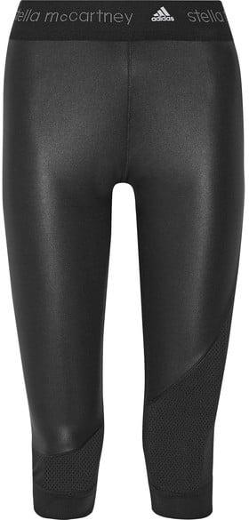 Adidas by Stella McCartney Climacool Mesh-Trimmed Leggings