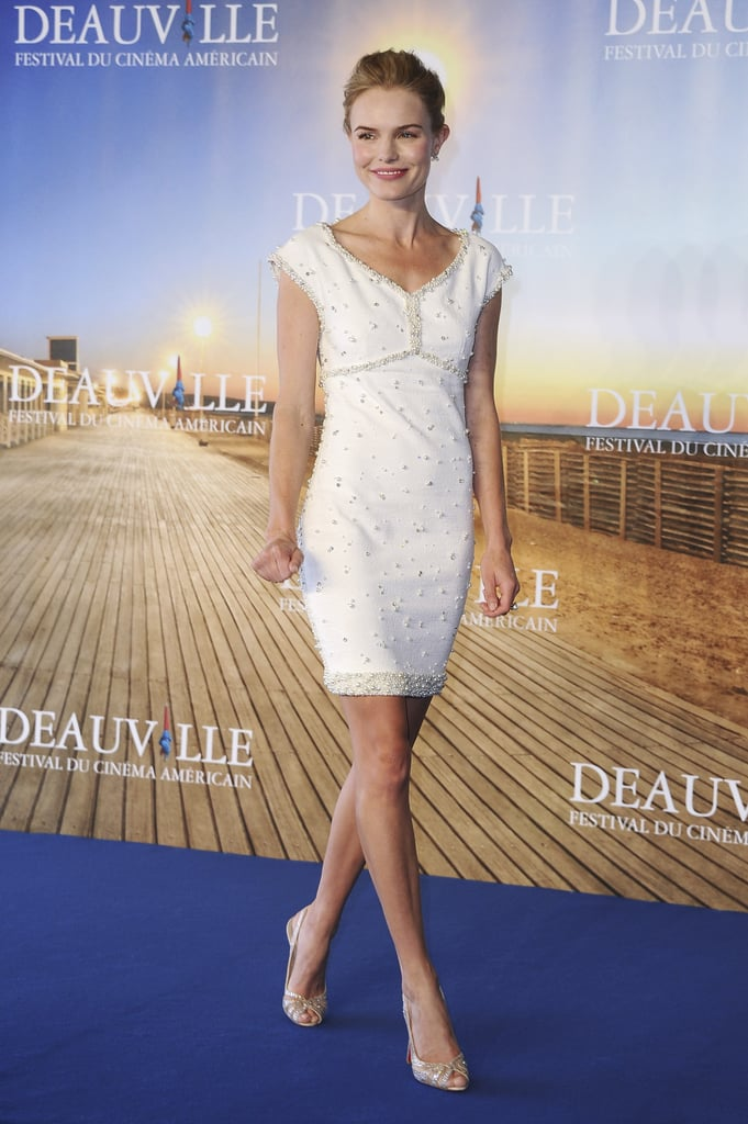 Kate Bosworth stepped out in a sexy Chanel dress for the premiere of Another Happy Day at the Deauville Film Festival in France on Sunday. The actress was back on the red carpet after attending Saturday's opening ceremony with director Michael Polish. Kate and Michael showed affection for the cameras after also recently being spotted on a few dates around LA, including a night out at the Coldplay concert in May. Kate seems to be moving on since her relationship with Alexander Skarsgard ended, and it appears he's doing the same. Alexander mingled with a few ladies during his weekend in the Hamptons and he apparently left the Surf Lodge with one in particular following a late night.