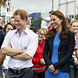 William, Kate, and Harry With Sir Chris Hoy