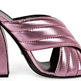 Gucci Metallic Crossover Sandal ($595)