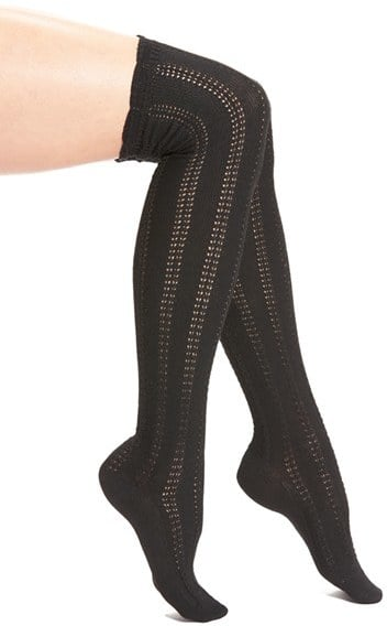 Free People Fray Openwork Knit Over the Knee Socks ($24)