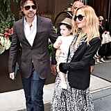 Rachel Zoe carried a fedora-clad Skyler in NYC.