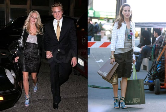 Who Wore It Better? Blue and Green Balenciaga Gladiator Sandals