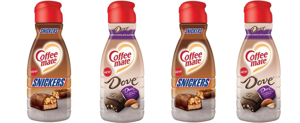 Snickers and Dove Dark Chocolate Coffee-Mate Creamer