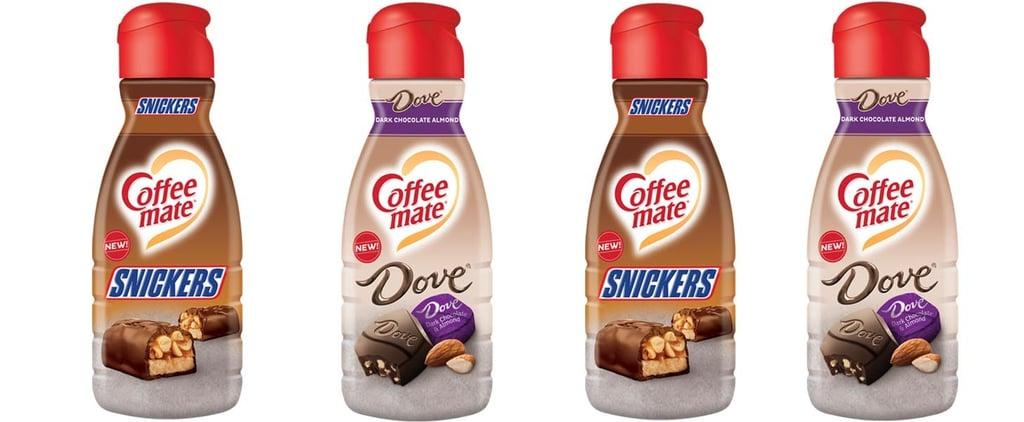 Snickers and Dove Dark Chocolate Coffee-Mate Creamer
