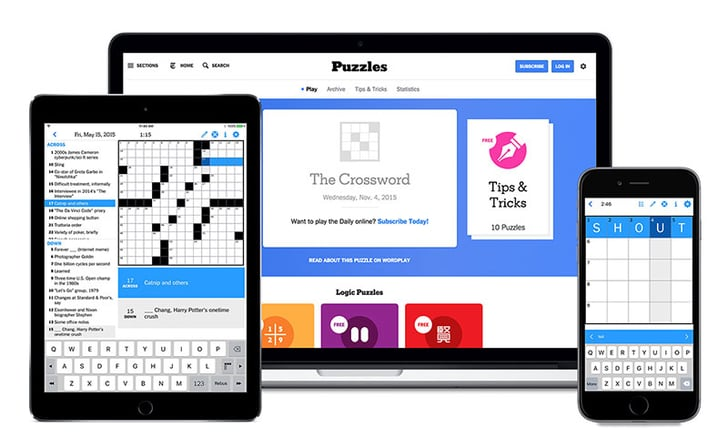 New York Times Crossword Puzzle One Year Subscription