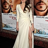 Angelina Jolie wore a sexy, high-slit dress to the 2010 NYC premiere of The Tourist.