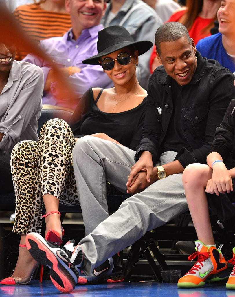 Jay-Z and Beyoncé Knowles were too cute together.