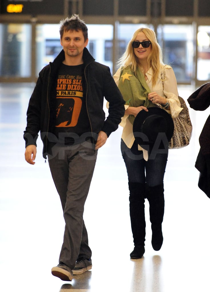 Bingham Bellamy took off from LAX with parents Kate Hudson and Matt Bellamy.