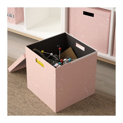 Pink Storage Box With Lid