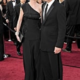 Antonio Banderas posed on the red carpet with wife Melanie Griffith.