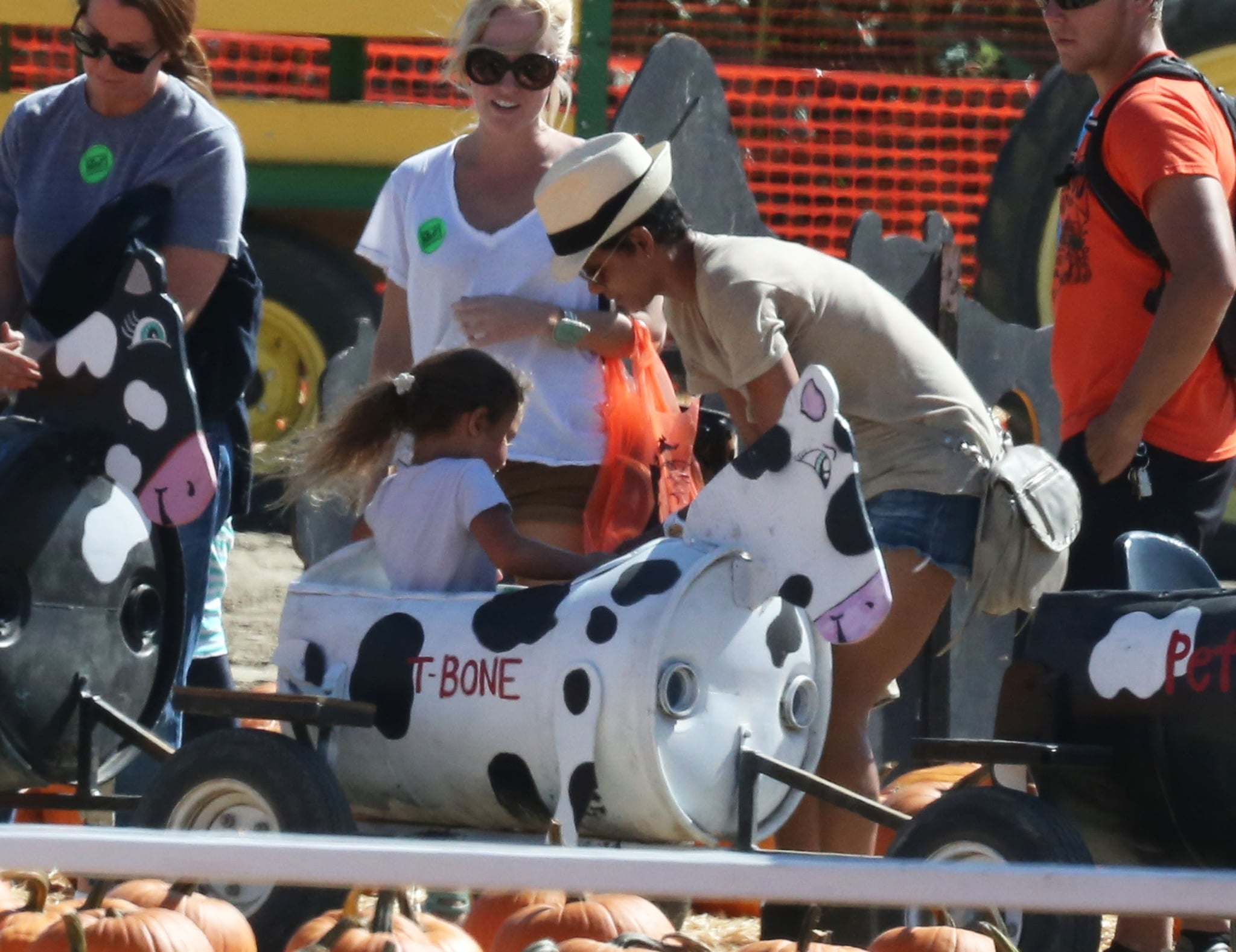 Halle Berry and Nahla enjoyed the games at a Simi Valley, CA, pumpkin patch.