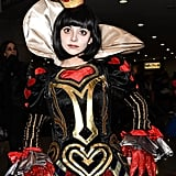 We weren't creeped out by this masterful Red Queen costume until we saw the gloves . . .