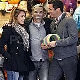 Cash Warren and Jessica Alba at a Halloween store in NYC.
