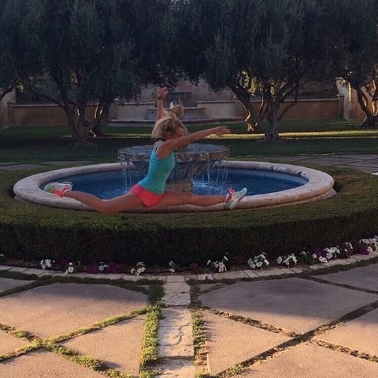 Britney Spears Doing Leaping Split
