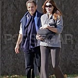 Carla Bruni and Nicolas Sarkozy introduced infant Giulia Sarkozy.