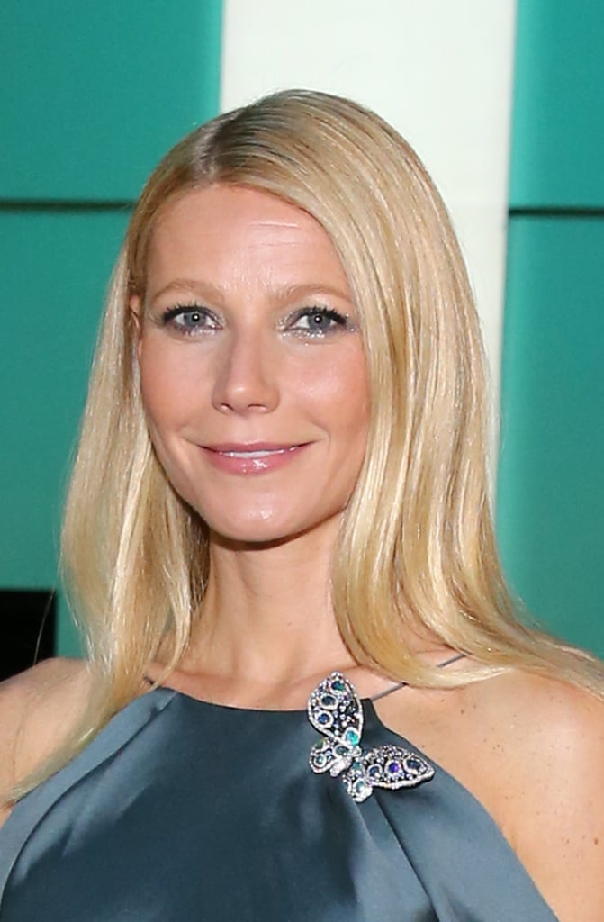 A closer look at Gwyneth's Tiffany & Co. butterfly diamond brooch set in platinum from the 2013 Blue Book Collection ($110,000).